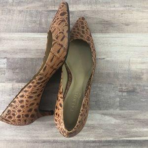 TALBOTS size 7.5 brown kitten heels